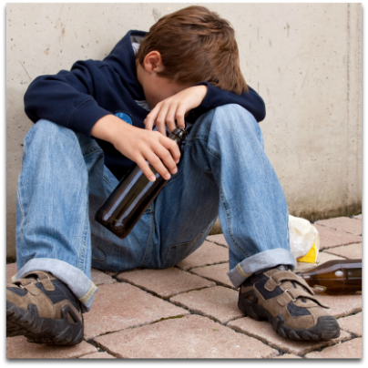 Teenage alcohol abuse caused by anxiety and depression